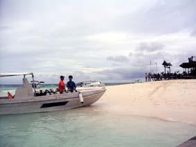 シパダン島上陸